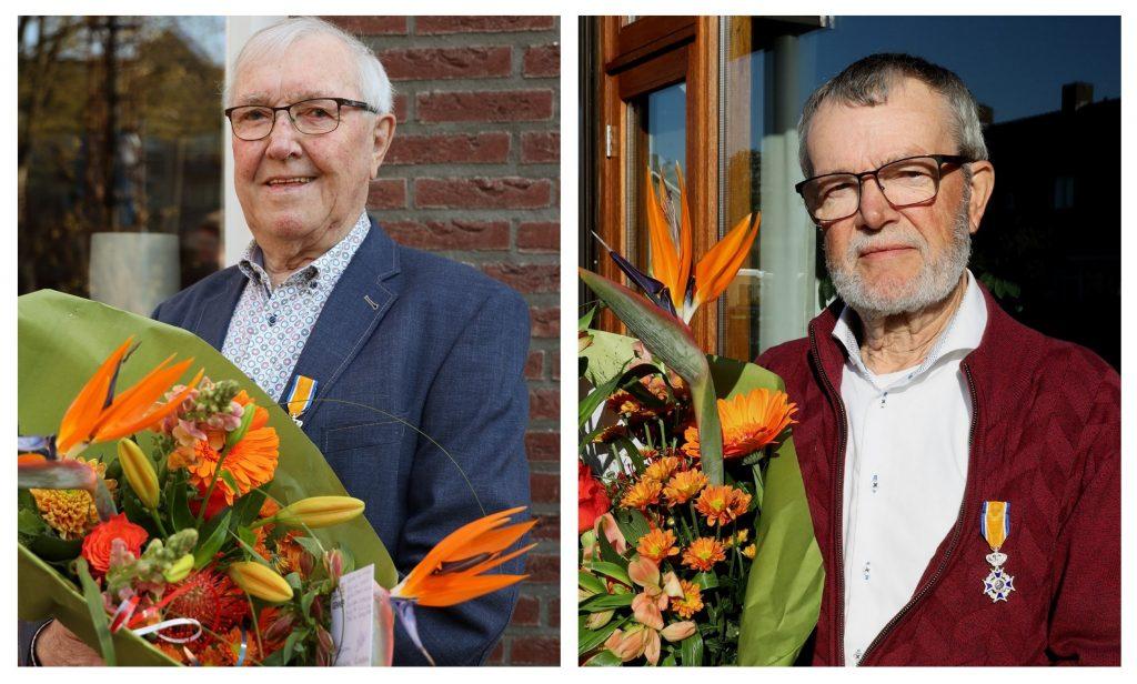 Frans en Gerrit  Stoffele benoemd tot Lid in de Orde van Oranje Nassau. (Foto Gemeente Gennep)